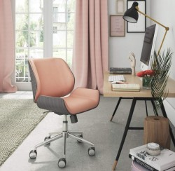ELLE Decor Ophelia Bentwood Task Chair, French Pink